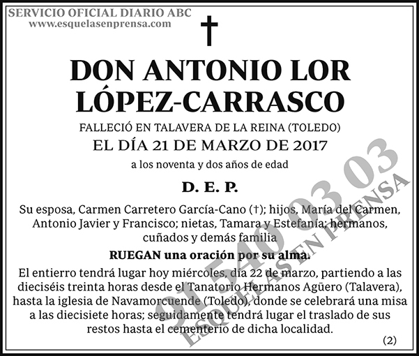 Antonio Lor López-Carrasco
